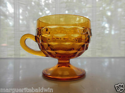 Indiana Colony Glass Amber Whitehall 6 oz Footed Cup