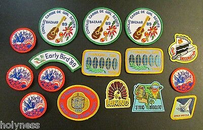 Mixed Lot Of 16 Girl Scout Patches / Embroidered Patch / Puerto Rico