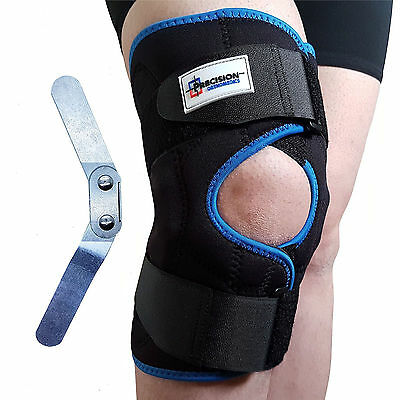 Neoprene Hinged Patella Knee Arthritis Support Brace Guard Stabilizer Strap Wrap