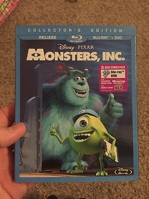 Monsters, Inc. (Blu-ray/DVD, 2013, 3-Disc Set)