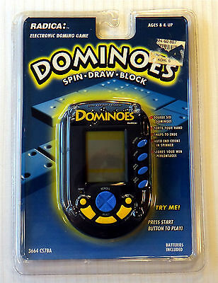 Radica ~ Dominoes ~ NEW SEALED ~ Electronic Hand Held Video Game ~ Travel Fun