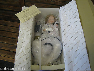"""Danbury Mint Shirley Temple Bright Eyes With Baby 17"""" Porcelain Doll New"""
