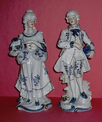 Vintage Collectible Ardco Colonial Couple Porcelain Figurine Set Made in Japan