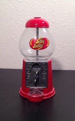 "9"" Jelly Belly Gum Ball Candy Machine Metal Glass Original Multi-Color Vending"