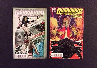 GUARDIANS OF THE GALAXY Annual #1 Comic Book + Variant Brian Bendis S.H.I.E.L.D.