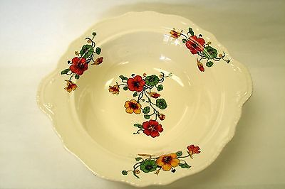 Homer Laughlin China - Ivory Vegetable Bowl in Newell Shape, Nasturtium HLC1090