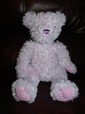 FAO Schwarz Purple Teddy Bear Plush Beanie Doll 11""