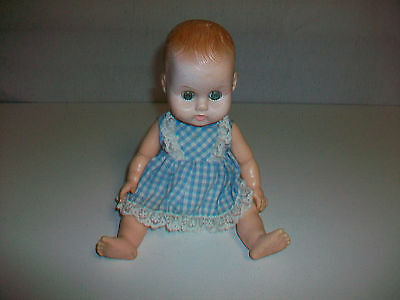 Vintage Ginny Baby by Vogue Dolls Inc. Molded Hair Baby Doll w/ condition issues