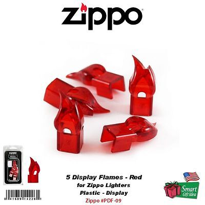 Zippo (5) Plastic Display Flames, for Windproof Lighters, Red #PDF-09