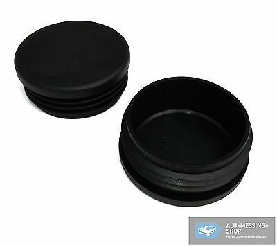 Pipe Plug, Lamella Caps, End Caps, Pipe Caps for round Pipes in Black