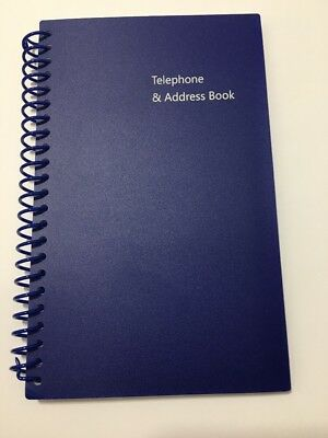 ADDRESS TELEPHONE EMAIL BOOK  Black BRAND NEW Tabbed Pages