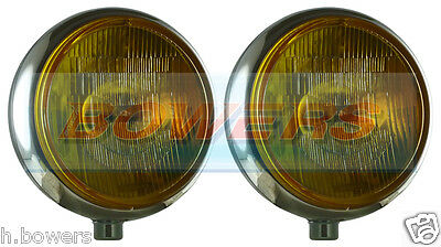 """Sim Stainless Steel Chrome 9"""" Cibie Super Oscar Yellow Spot/driving Lamps/lights"""