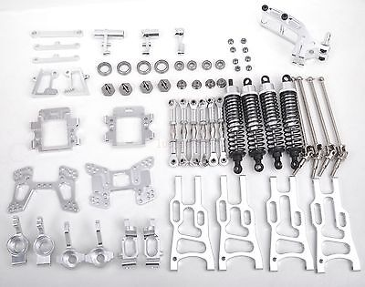 Aluminum Upgrade Parts Package For HSP RC 1:10 Off-Road Buggy Model Car Silver