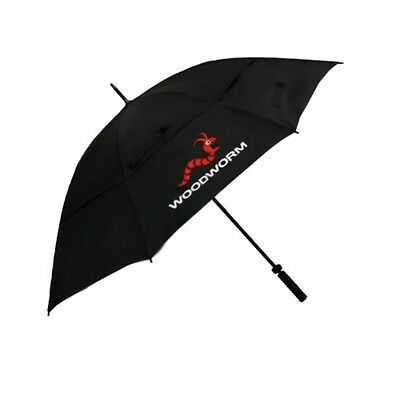 "Woodworm Windproof 60"" Double Canopy Golf Umbrella (Black)"