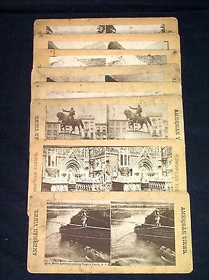 ANTIQUE RARE STEREOSCOPE STEREO VIEW PHOTO CARDS CIRCA 1900'S AMERICAN VIEWS OLD
