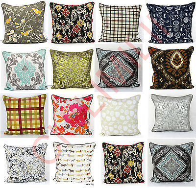 "100% Cotton Cushion Cover Decorative Pillowcase,With Piped Edging Size 20""x20"""