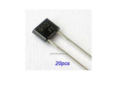 20pcs BB910 VHF Variable Capacitance Diode DIP TO-92S
