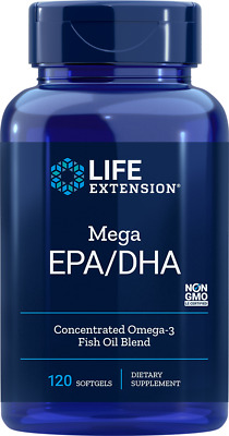 Life Extension Mega EPA/DHA 600mg 120 Softgels - Fettsäuren & Vitamine