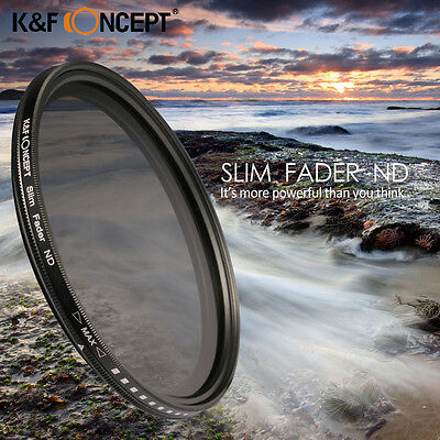 58mm Slim Lens Filter Adjustable Fader Variable ND ND2 to ND400 For Nikon Canon