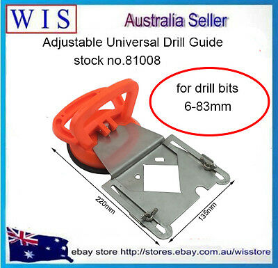 6-83mm Universal Drill Guide w Suction Cup for Porcelain Drill Bits & Hole-81008