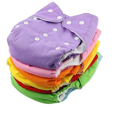Baby Soft Cloth Diaper Adjustable Reusable Breathable Nappy Washable US