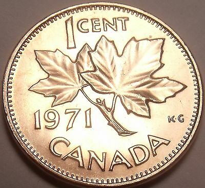 Gem Unc Canada 1971 Maple Leaf Cent~We Have Canadian Coinage~Free Shipping