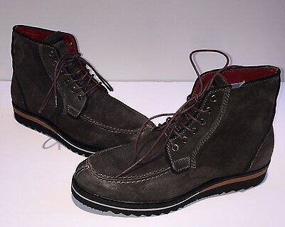 Kenneth Cole Saw-Ced Men's Brown Leather Boots 8M MSRP $198 A2676F