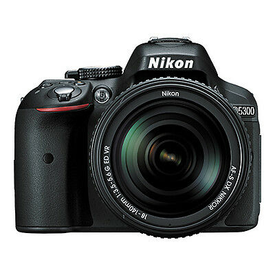 Nikon D5300 Digital SLR Camera 24.2 MP Black with 18-140mm VR AF-S DX Zoom Lens