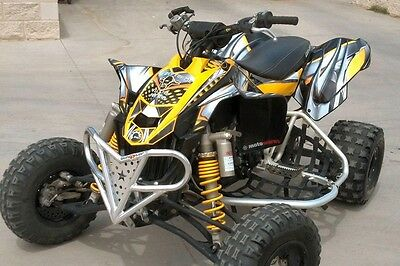 Can am DS450 graphics DS 450 Custom Racing Sticker kit #7777 Yellow