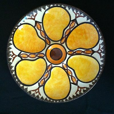 Vintage French Majolica Oyster Plate HB Quimper 1950 (#2)