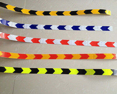 """Safety Arrow Reflective Caution Warning Tape Sticker For Road Stair Way 1"""" Width"""