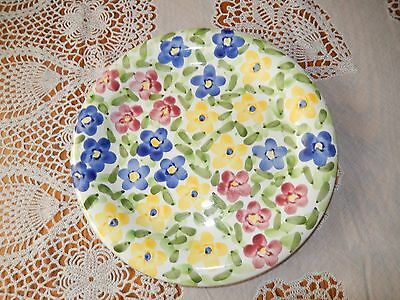 """Colorful Floral Pattern 10-1/2"""" Dinner Plate"""