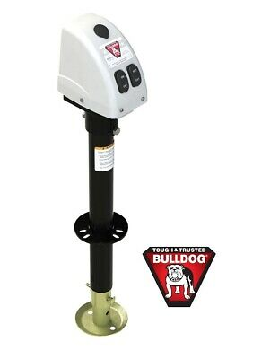 Fulton Bulldog 3500Lb Electric Power Trailer Tongue Jack White 5 Year Warranty
