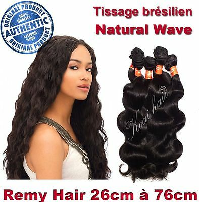 Tissage Bresilien 100% Naturel Ondule Natural Wave Virgin Hair 26Cm-76Cm 100G