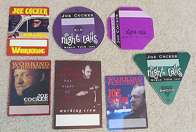 Joe Cocker - Backstage pass collection. 7 passes. Set #1
