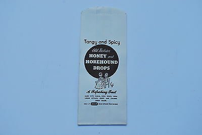 Rexall Drug Stores - Old Fashion Honey & Horehound Drops unused bag - NICE!!!