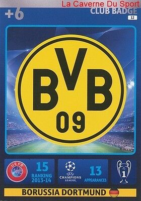 012 Badge Club Borussia Dortmund  Card Champions League Adrenalyn 2015 Panini