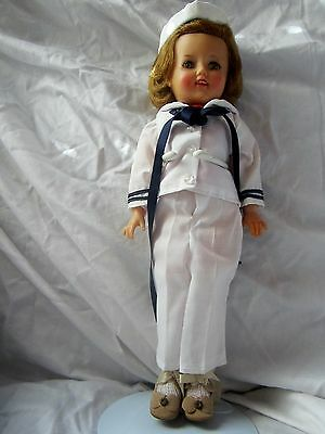 Vintage 1950's Shirley Temple doll in sailor outfit with hat . ST-12 IDEAL