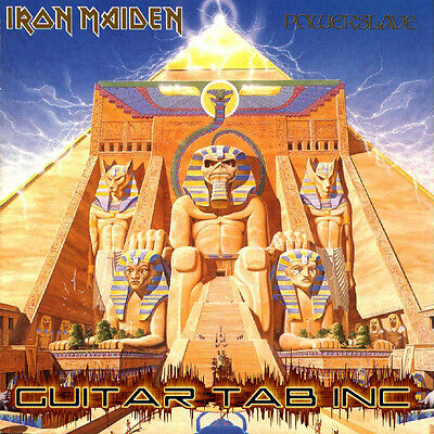 Iron Maiden Digital Guitar Tab POWERSLAVE PDF Lessons on Disc Dave Murray Smith