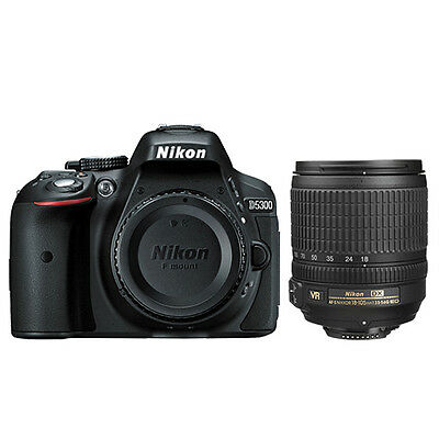 Nikon D5300 Digital SLR Camera Wi-Fi 24.2 MP Black + 18-105mm AF-S DX VR Lens