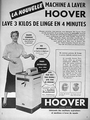 publicite 1954 french ad hoover machine a laver washing machine. Black Bedroom Furniture Sets. Home Design Ideas
