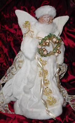 "Victorian Christmas Angel Tree Topper - 14"" inches"