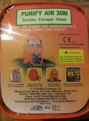 smoke hood with case