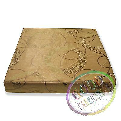 Hc501t Gold Light Gold Circle Thick Upholstery Fabric 3D Box Seat Cushion Cover