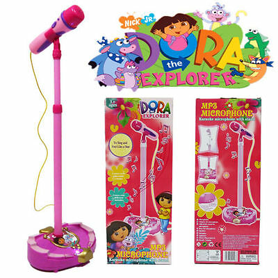 Dora The Explorer Educational Microphone Toy  Musical Voice Tube Sound Light Led