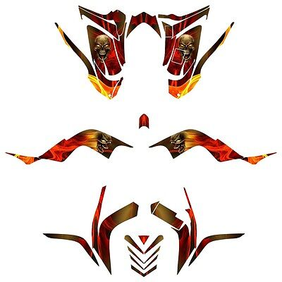 Raptor 700 graphics 2006 -2012 deco sticker kit #6666N Full Coverage
