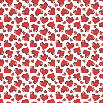 """24"""" X 10ft - Red Hearts Textured Prints -Art, Craft & Graphics Cutting Vinyl"""