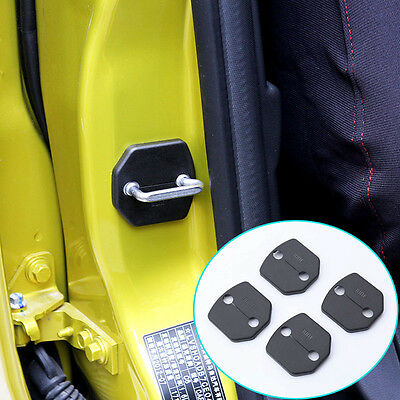 4Pc Fit For Ford Volvo Door Lock Catch Cover Buckle Cap Case Protector Anti Rust