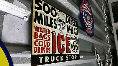 ROUTE 66 Truck Stop SIGN Garage Drinks Shop Chevy Ford NASCAR Mobil Ice Texaco
