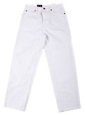 Boys Eagle blue jeans Classic/Straight Leg Whites jeans 100% Cotton Solid 8-18